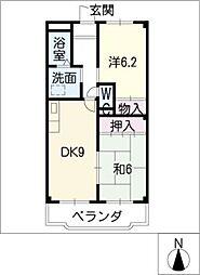 愛知県日進市栄3丁目の賃貸マンションの間取り