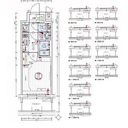 名古屋市営東山線 亀島駅 徒歩3分の賃貸アパート 11階1Kの間取り