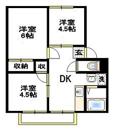 エステート5[2階]の間取り