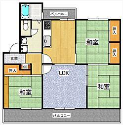 野間台住宅[6棟23号号室]の間取り