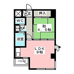 ビクトリービル[3階]の間取り