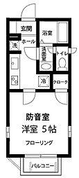 東京都墨田区東向島2丁目の賃貸アパートの間取り