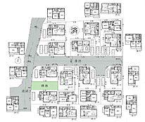 全体区画図:新規分譲15区画