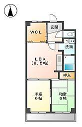 愛知県名古屋市西区天塚町4丁目の賃貸マンションの間取り