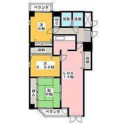 シャトウ有松[3階]の間取り