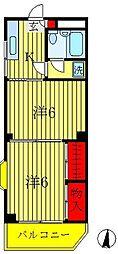 セントラルコーポ[3階]の間取り