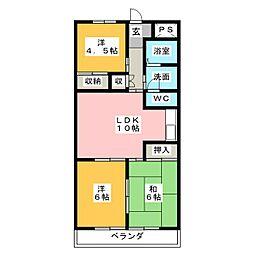 中銀コーポII[3階]の間取り
