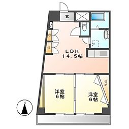 CASA NOAH鶴舞公園 II[4階]の間取り