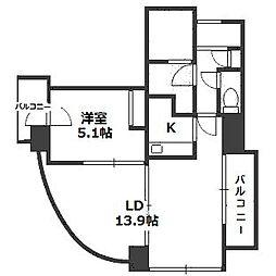 ビッグパレス南4条[3階]の間取り