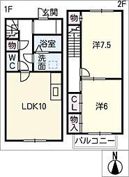 [タウンハウス] 愛知県豊田市瑞穂町2丁目 の賃貸【/】の間取り