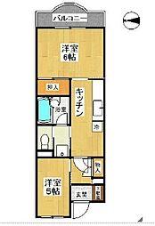 ベルハウス戸塚[1階]の間取り