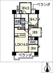 チサンマンション各務原206号[2階]の間取り