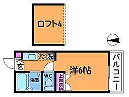 エンジェルハイツ36番館[1階]の間取り