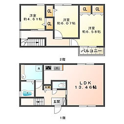 向陽D-room[1階]の間取り