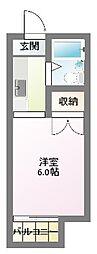 清竜荘[107号室]の間取り