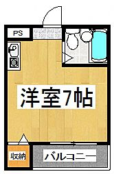 CoopKAZUMI[3階]の間取り