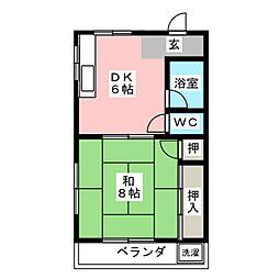 志穂ハイツ[2階]の間取り