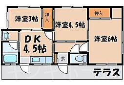[一戸建] 広島県広島市安芸区中野6丁目 の賃貸【/】の間取り