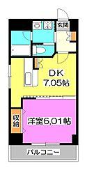 東京都清瀬市中里3丁目の賃貸マンションの間取り
