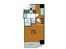 Osaka Metro中央線 堺筋本町駅 徒歩4分の賃貸マンション 5階1Kの間取り
