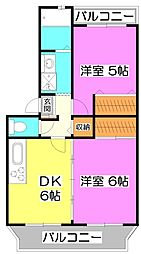 埼玉県新座市大和田1丁目の賃貸マンションの間取り