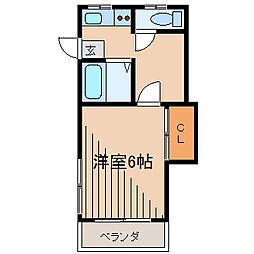 東京都町田市中町2丁目の賃貸アパートの間取り