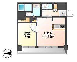 FIRST RESIDENCE SAKAE(ファースト)[8階]の間取り