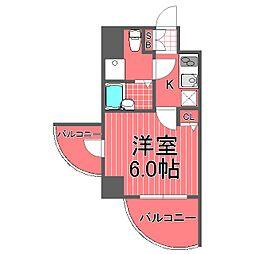 ハーモニーレジデンス横浜[2階]の間取り