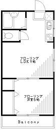 第一須田コーポ[107号室]の間取り