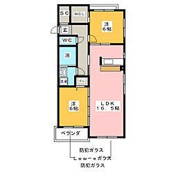 イーグル7[2階]の間取り