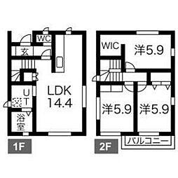 [一戸建] 愛知県名古屋市中川区愛知町 の賃貸【/】の間取り
