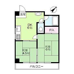 第二京浜ビル[405号室]の間取り