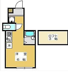 EXZA(エグザ)[2階]の間取り