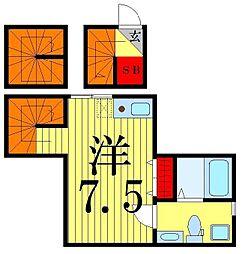 coco garden 金町[3階]の間取り