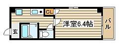 大阪府大阪市西区新町2の賃貸マンションの間取り