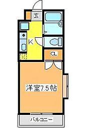広島県東広島市西条町田口の賃貸マンションの間取り