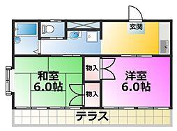 千葉県浦安市富士見5丁目の賃貸マンションの間取り