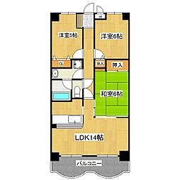 センチュリー時計台I[2階]の間取り