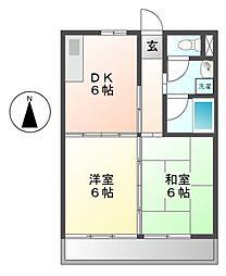 愛知県名古屋市中川区西日置町9丁目の賃貸マンションの間取り