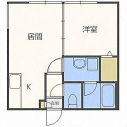 レーヴ清田[3階]の間取り