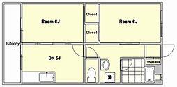 第5西田ビル[4階]の間取り