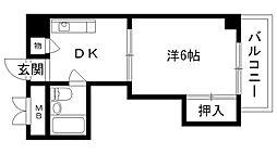 ディア夙川[403号室]の間取り