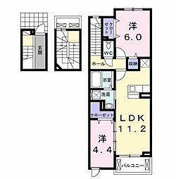 丸信ハウスII[3階]の間取り