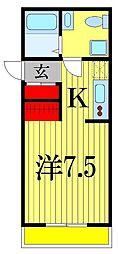 Kヒルズ津田沼[2階]の間取り