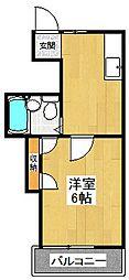 東京都狛江市岩戸北4丁目の賃貸アパートの間取り