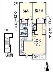 エスターテ・アリエッタII[2階]の間取り