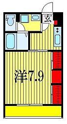 千葉県船橋市東船橋1丁目の賃貸マンションの間取り