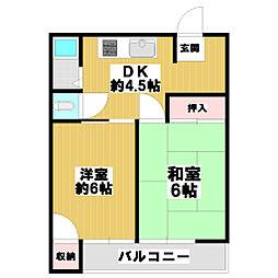 奥田マンション[1階]の間取り