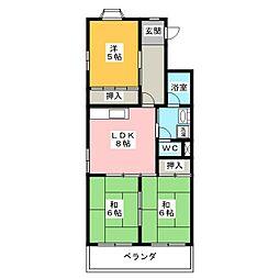 レジデンス鈴木[1階]の間取り