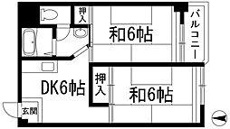 パインリーフ池田[4階]の間取り